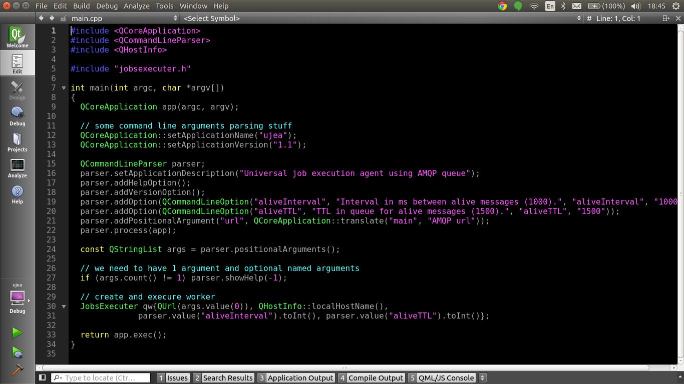 Enabling global menu in Qt Creator in Unity (Ubuntu 14 04